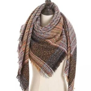 Sale New Large Cashmere blend scarf.